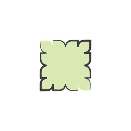 abstract geometric frame sticker vector design