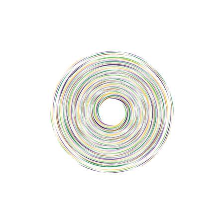 tornado swirl circle colorful vector illustration