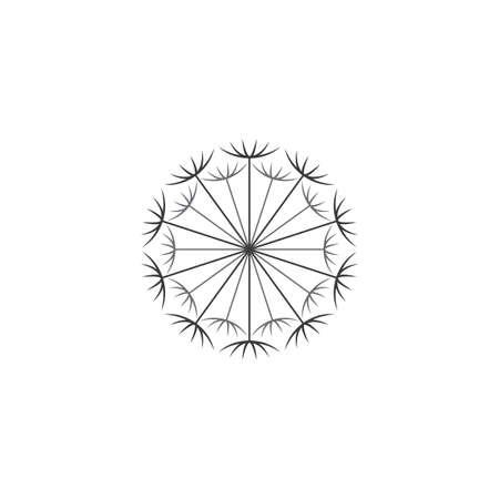 dandelion logo vector icon symbol design