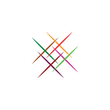 business colorful logo abstract lines