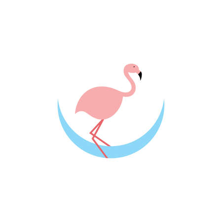 flamingo logo icon design symbol