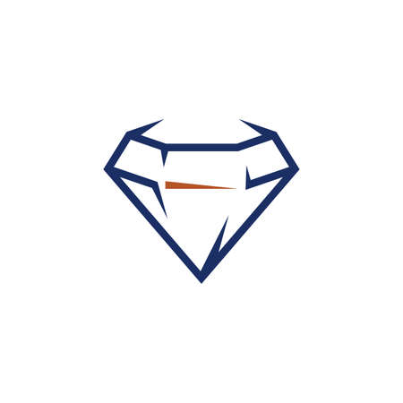 blue diamond logo vector icon symbol design Illustration