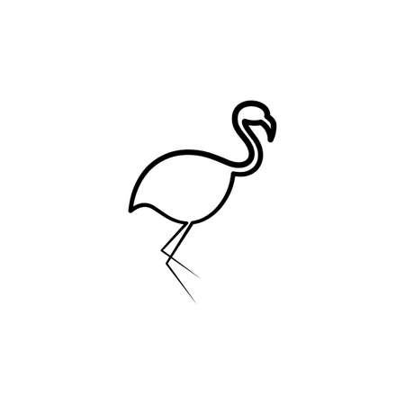 flamingo line vector icon design