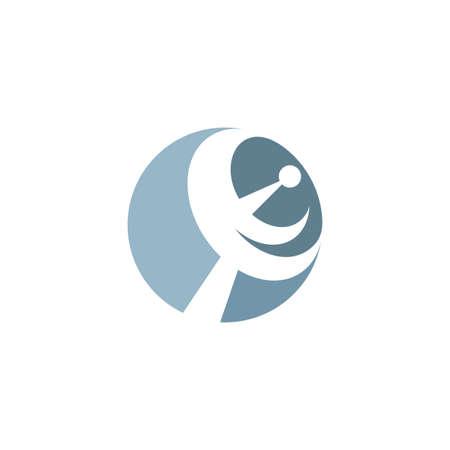 satellite antenna logo icon vector