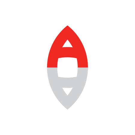 letter a with shadow vector logo icon Illustration