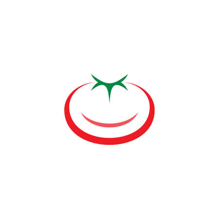 tomato logo vector icon sign design