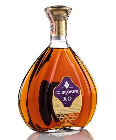 bratislava, SLOVAKIA, august 20, 2019 : courvoisier french cognac, capturing the spirit of Paris golden age