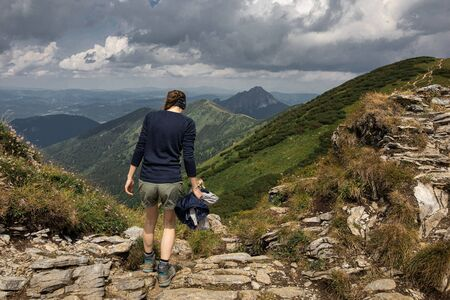 touristic walkway in the Little Fatra mountains