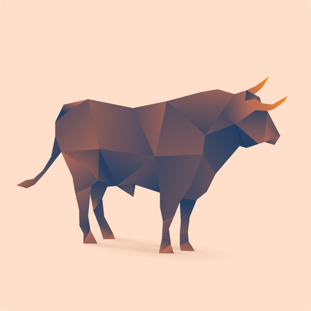 polygonal illustration of bull