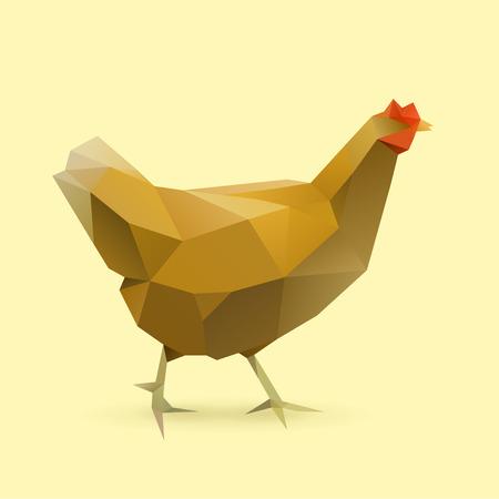 polygonal illustration of chicken