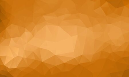 rumpled: gold abstract geometric rumpled triangular low poly style vector illustration graphic background