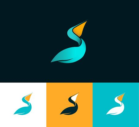 pelicans: Pelican variants, vector symbol