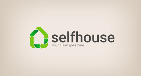 house logo: logo of recycling and energy saving