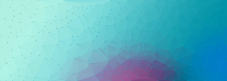 rumpled: cyan purple abstract geometric rumpled triangular low poly style vector illustration graphic background