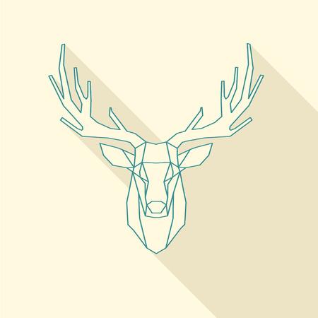 wire frame: polygonal illustration of deer wire frame