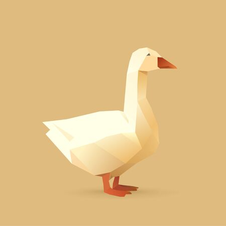 polygonal illustration of goose 矢量图像