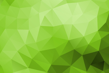 Abstract polygonal background vector green