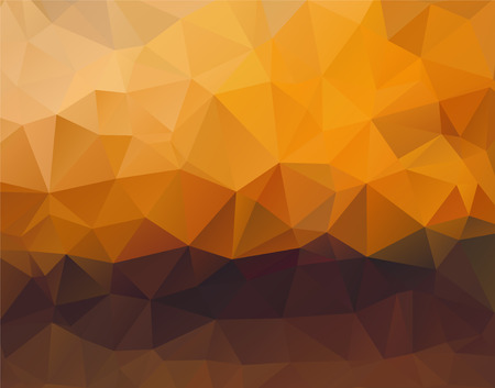 Abstract polygonal background vector sunset horizontal Illustration