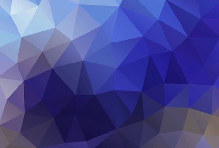 Abstract polygonal background vector tropical blue
