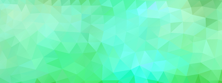 wide screen: Abstract polygonal background vector green and light blue wide screen
