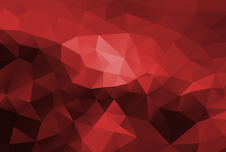 Abstract polygonal background vector dark red