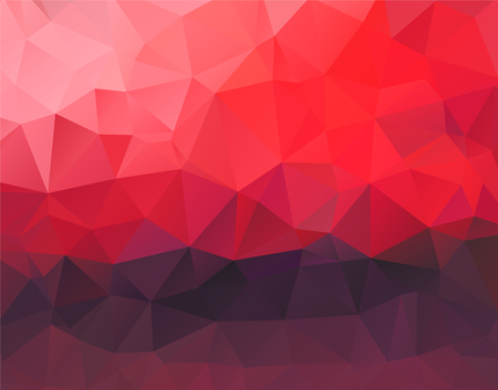 dark purple: Abstract polygonal background vector red and dark purple horizontal