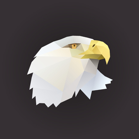 eagle profil portrait polygon illustration