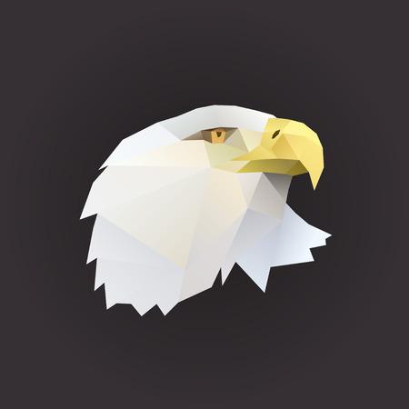 Profil d'aigle portrait polygone illustration Banque d'images - 40954533