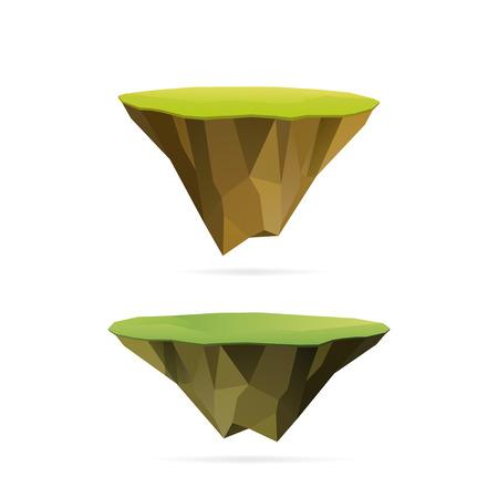 floating: Polygonal floating islands