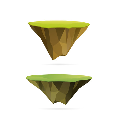 Polygonal floating islands