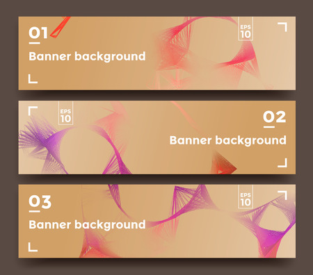 horizontal: Abstract horizontal lines banners Illustration