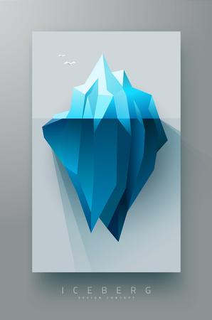 iceberg polygonal design banner