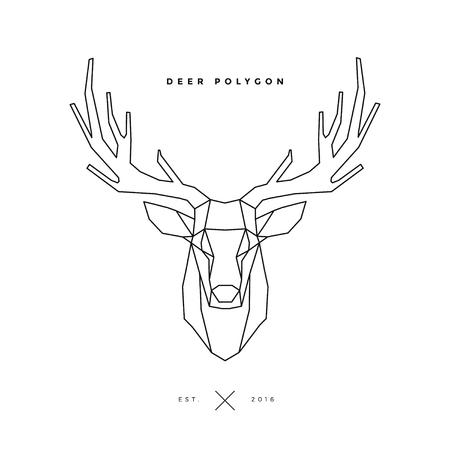 deer frame head, polygon illustration 向量圖像