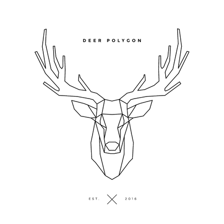 deer frame head, polygon illustration Illustration