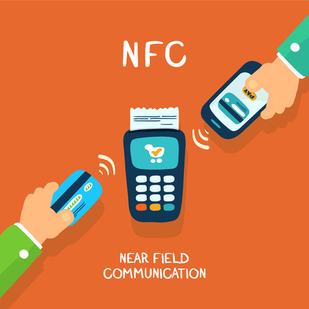near field communication, payments with card or mobile