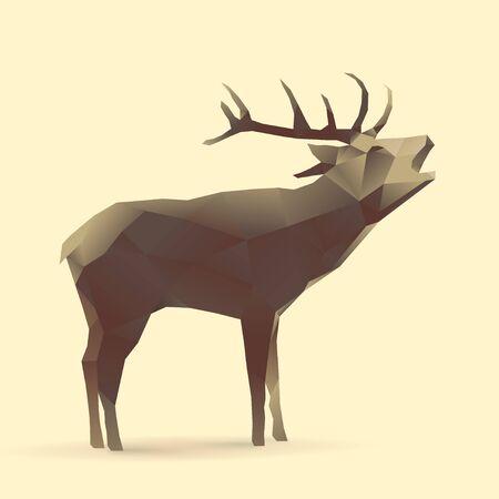 Polygon Illustration of Deer