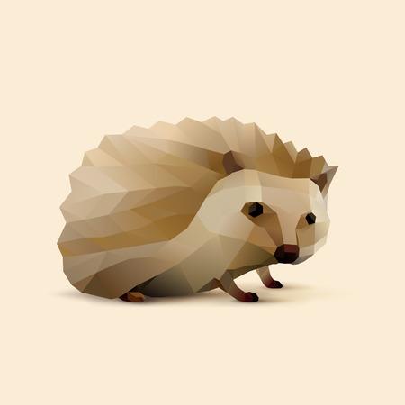 polygonal illustration of Hedgehog
