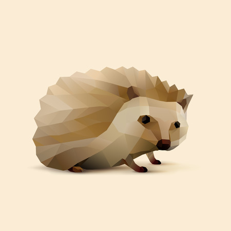 polygonal illustration of Hedgehog