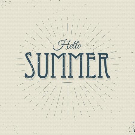 summer sign: hello summer vintage sign