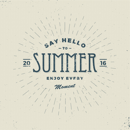 summer sign: say hello to summer, vintage sign