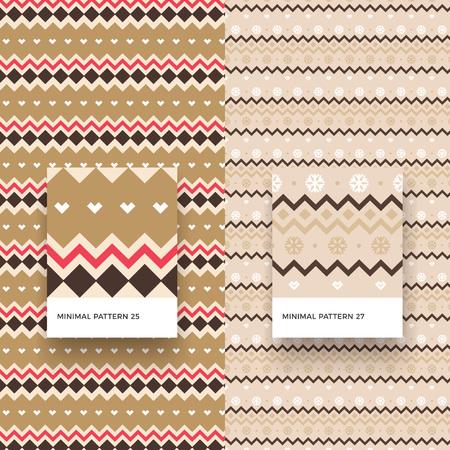 伝統的なメリー クリスマス雪と幾何学的図形のシームレス パターン