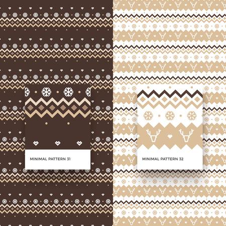 Modèles sans couture traditionnels joyeux Noël avec des flocons de neige, des cerfs et des formes géométriques Banque d'images - 88450796