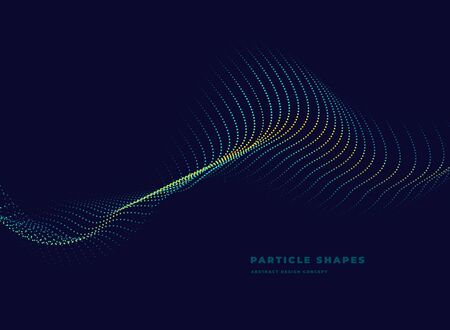 topographic abstract particle vector dotted wave on dark background 矢量图像