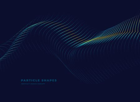 tube, abstract dynamic particle vector dotted wave on dark background