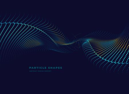 tech abstract particle vector dotted wave