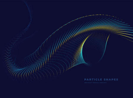 Particle turbine wave background. Abstract dynamic turbine wave. Vector illustration