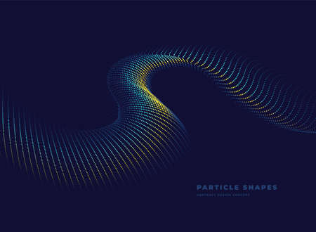 Particle turbine wave background. Abstract dynamic wave. Vector illustration Ilustracja