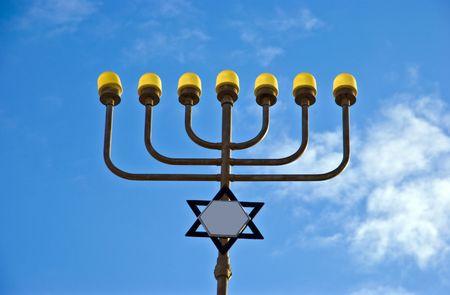 mezuzah: The Menorah is traditional item of judaism