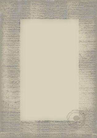 古い紙スタンプ。別のメニューのリスト、等の専門語のための理想的な背景。