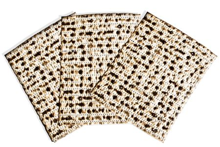 Closeup of matzah-- unleavened bread for the Jewish holiday of Passover photo